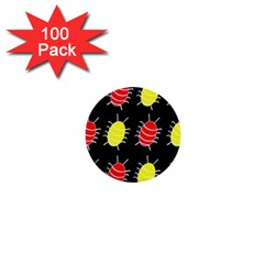 Red and yellow bugs pattern 1  Mini Buttons (100 pack)