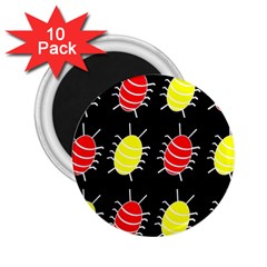 Red and yellow bugs pattern 2.25  Magnets (10 pack)