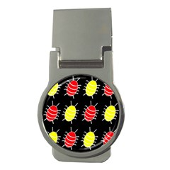 Red and yellow bugs pattern Money Clips (Round)
