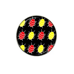 Red and yellow bugs pattern Hat Clip Ball Marker (10 pack)