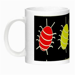 Red and yellow bugs pattern Night Luminous Mugs