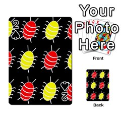 Red and yellow bugs pattern Playing Cards 54 Designs