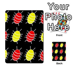 Red and yellow bugs pattern Multi-purpose Cards (Rectangle)