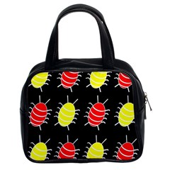 Red and yellow bugs pattern Classic Handbags (2 Sides)