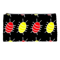 Red and yellow bugs pattern Pencil Cases
