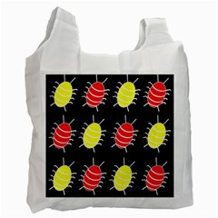 Red and yellow bugs pattern Recycle Bag (Two Side)