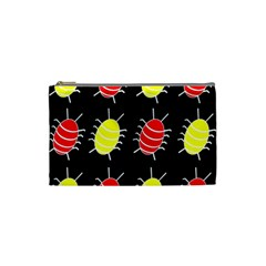 Red and yellow bugs pattern Cosmetic Bag (Small)