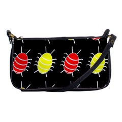 Red and yellow bugs pattern Shoulder Clutch Bags