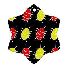 Red and yellow bugs pattern Ornament (Snowflake)