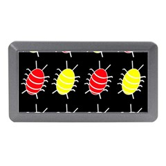 Red and yellow bugs pattern Memory Card Reader (Mini)