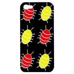 Red and yellow bugs pattern Apple iPhone 5 Hardshell Case