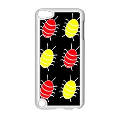 Red and yellow bugs pattern Apple iPod Touch 5 Case (White)