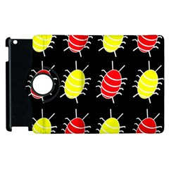 Red and yellow bugs pattern Apple iPad 3/4 Flip 360 Case
