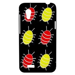 Red and yellow bugs pattern HTC Desire VT (T328T) Hardshell Case