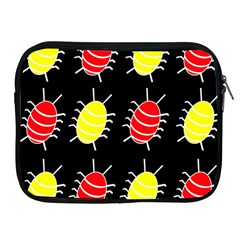 Red and yellow bugs pattern Apple iPad 2/3/4 Zipper Cases
