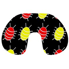 Red and yellow bugs pattern Travel Neck Pillows