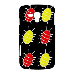Red and yellow bugs pattern Samsung Galaxy Duos I8262 Hardshell Case