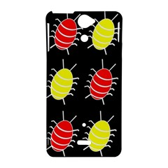 Red and yellow bugs pattern Sony Xperia V