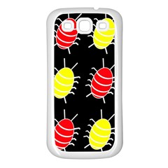 Red and yellow bugs pattern Samsung Galaxy S3 Back Case (White)