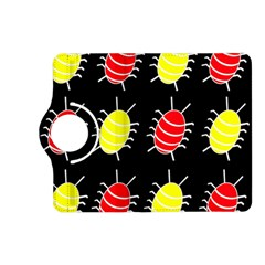 Red and yellow bugs pattern Kindle Fire HD (2013) Flip 360 Case