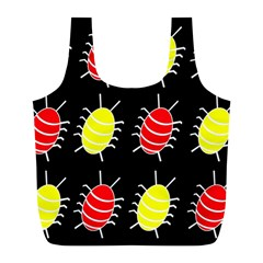 Red and yellow bugs pattern Full Print Recycle Bags (L)