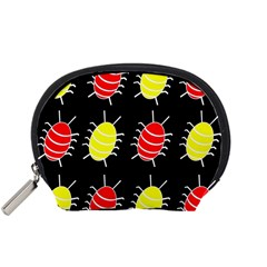 Red and yellow bugs pattern Accessory Pouches (Small)
