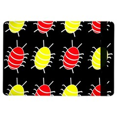 Red And Yellow Bugs Pattern Ipad Air 2 Flip