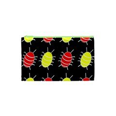 Red and yellow bugs pattern Cosmetic Bag (XS)