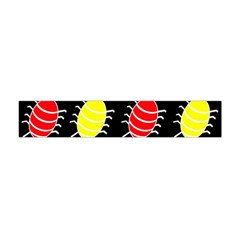 Red And Yellow Bugs Pattern Flano Scarf (mini)