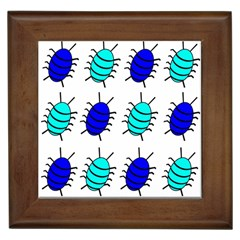 Blue bugs Framed Tiles