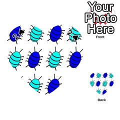 Blue bugs Playing Cards 54 (Heart)