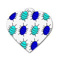 Blue bugs Dog Tag Heart (One Side)