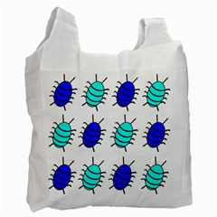 Blue bugs Recycle Bag (One Side)