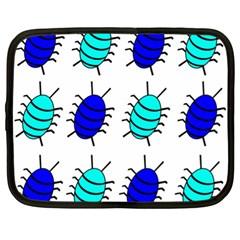 Blue bugs Netbook Case (XL)