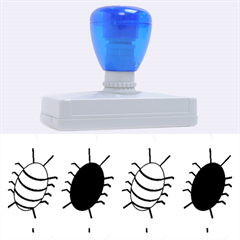 Blue bugs Rubber Address Stamps (XL)