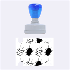 Blue bugs Rubber Oval Stamps