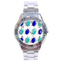 Blue bugs Stainless Steel Analogue Watch