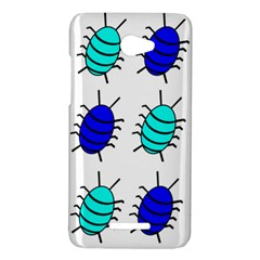 Blue bugs HTC Butterfly X920E Hardshell Case