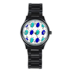 Blue bugs Stainless Steel Round Watch