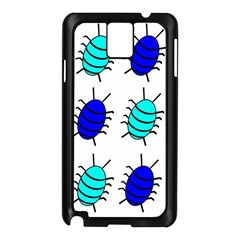 Blue bugs Samsung Galaxy Note 3 N9005 Case (Black)