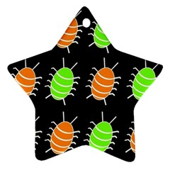 Green and orange bug pattern Ornament (Star)