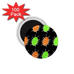 Green and orange bug pattern 1.75  Magnets (100 pack)