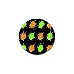 Green and orange bug pattern Golf Ball Marker (10 pack)