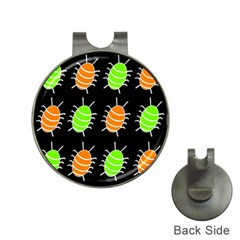Green and orange bug pattern Hat Clips with Golf Markers