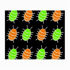 Green and orange bug pattern Small Glasses Cloth