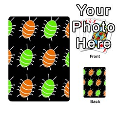 Green and orange bug pattern Multi-purpose Cards (Rectangle)