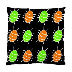 Green and orange bug pattern Standard Cushion Case (Two Sides)