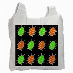 Green and orange bug pattern Recycle Bag (Two Side)