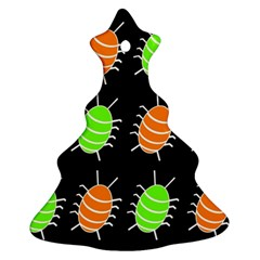 Green and orange bug pattern Christmas Tree Ornament (2 Sides)