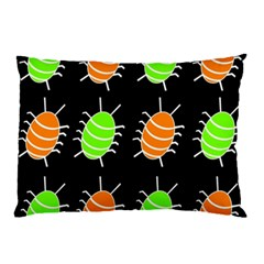 Green and orange bug pattern Pillow Case (Two Sides)